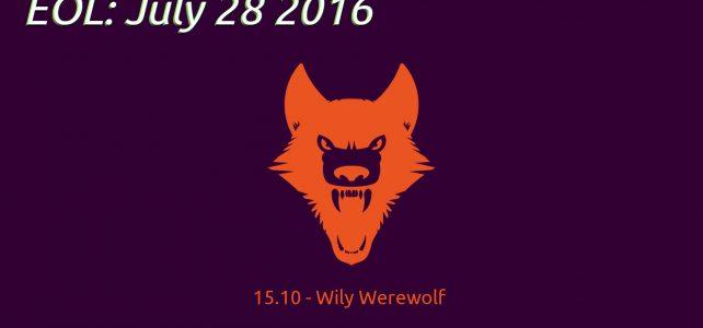 Ubuntu 15.10 : EOL στις 28 Ιουλίου