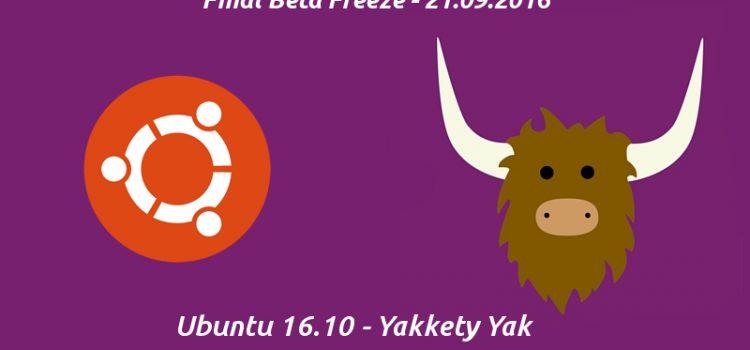 Ubuntu Yakkety: Final Beta