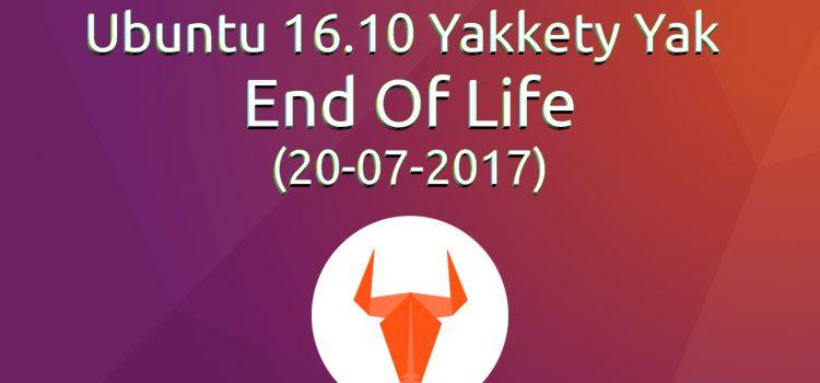 [Announce] Λήξη υποστήριξης για το Ubuntu 16.10